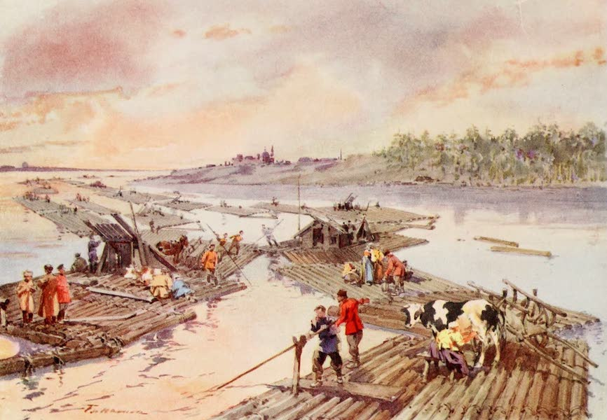 Russia, Painted and Described - Rafts on the Volga (1913)