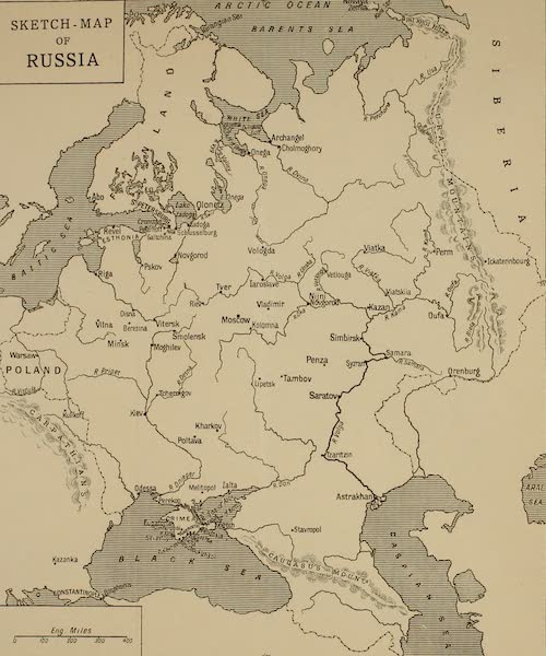 Russia, Painted and Described - Sketch Map of Russia (1913)