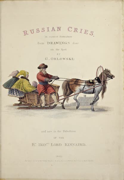 Russian Cries - Title Page (1809)