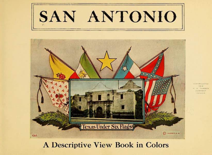 San Antonio, A Descriptive View Book in Colors - Title Page (1913)