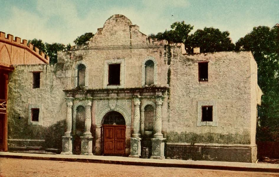 San Antonio, A Descriptive View Book in Colors - The Alamo Chapel (1913)