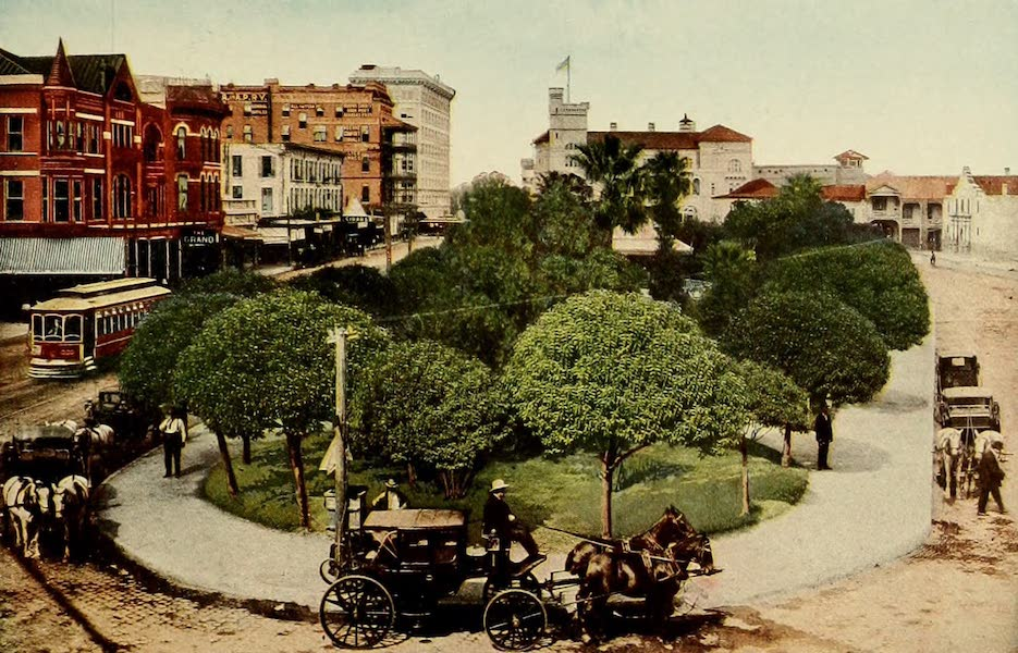 San Antonio, A Descriptive View Book in Colors - The Alamo Plaza [I] (1913)