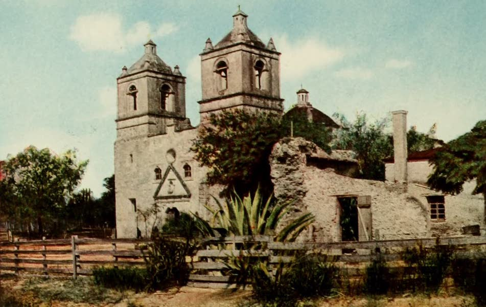 San Antonio, A Descriptive View Book in Colors - Mission Conception (1913)