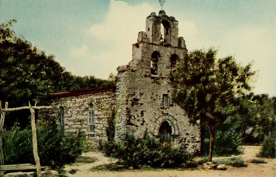 San Antonio, A Descriptive View Book in Colors - Fourth Mission, San Francisco de la Espada (1913)