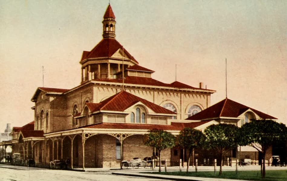 San Antonio, A Descriptive View Book in Colors - The City Market (1913)