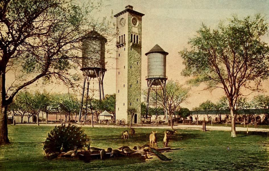 San Antonio, A Descriptive View Book in Colors - Inside of the Quadrangle of Fort Sam Houston (1913)
