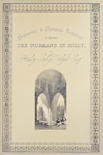 Saracenic and Norman Remains - Title Page - The Interior of the Pavilion in the Gardens of La Cuba, Palermo. (1840)