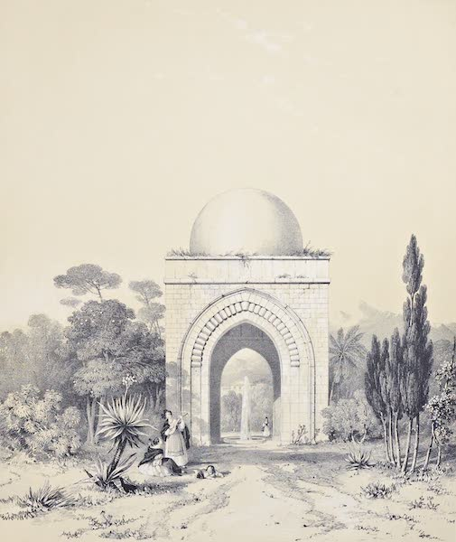 Saracenic and Norman Remains - The Exterior of the Same Pavilion. (1840)