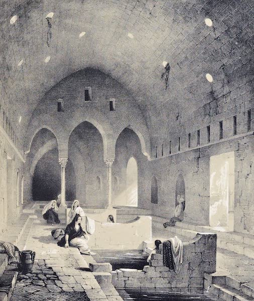 Saracenic and Norman Remains - The Baths of Cefalu. (1840)