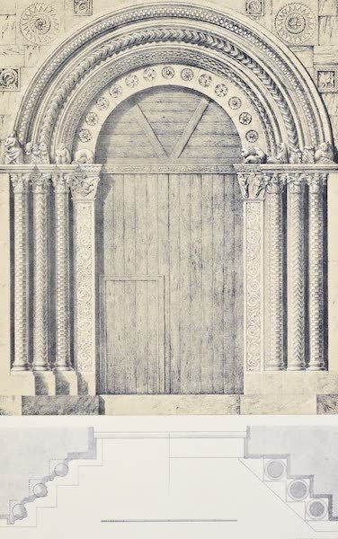 Saracenic and Norman Remains - Portal of the Church of Santo Carcere, Catania, (1840)