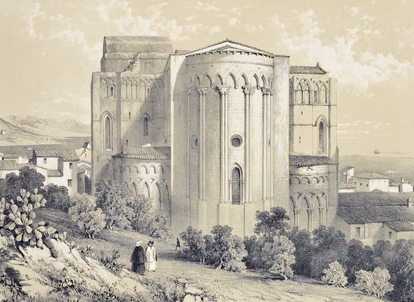 Saracenic and Norman Remains - The East End of the Cathedral of Cefalu. (1840)