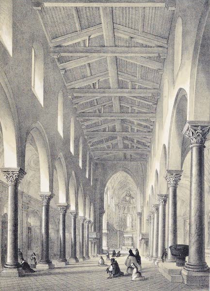 Saracenic and Norman Remains - The Interior of the Cathedral of Cefalu. (1840)