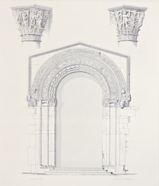 Saracenic and Norman Remains - The Western Portal of the Cathedral of Cefalu. (1840)
