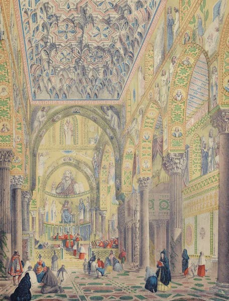 Saracenic and Norman Remains - The Interior of La Capella Palatina, or Chapel Royal of the Palace, At Palermo. (1840)
