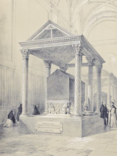 Saracenic and Norman Remains - The Tomb of King Roger in the Cathedral of Palermo. (1840)