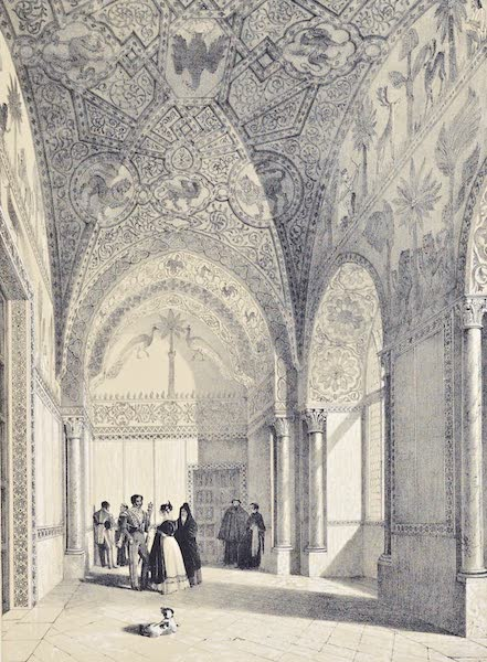Saracenic and Norman Remains - A Room in the Palazzo Veccillo of Palermo. (1840)