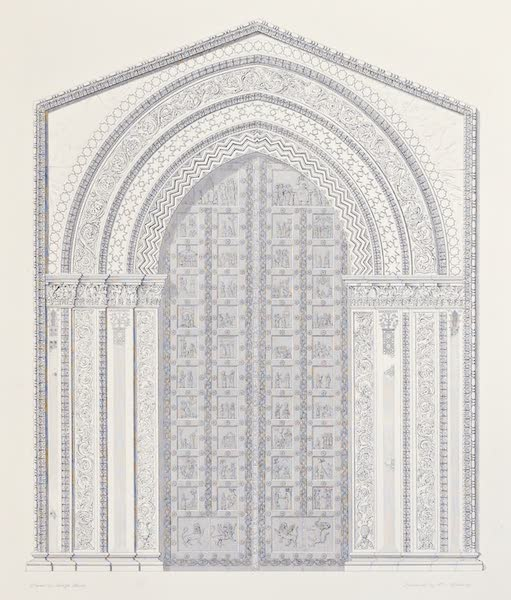 Saracenic and Norman Remains - The Great Western Portal of the Cathedral of Monreale. (1840)