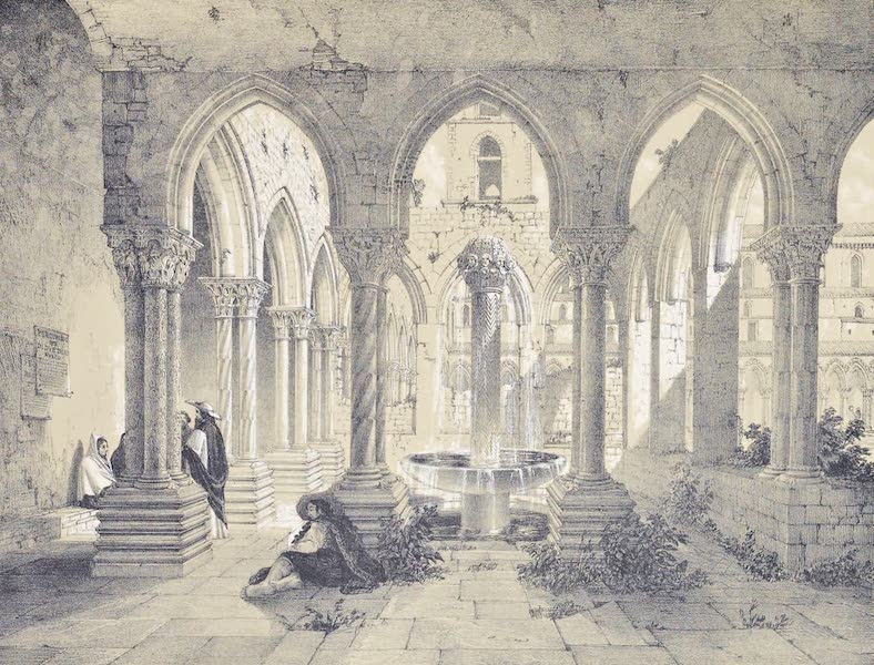 Saracenic and Norman Remains - The Cloister of the Cathedral of Monreale. (1840)