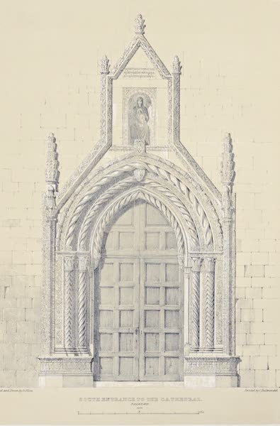 Saracenic and Norman Remains - South Portal of the Cathedral of Palermo. (1840)