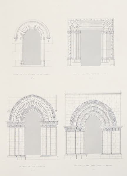 Saracenic and Norman Remains - Specimens of Portals At Palermo, Exhibiting the Vicissitudes of Style During the Fourteenth and Fifteenth Centuries. (1840)