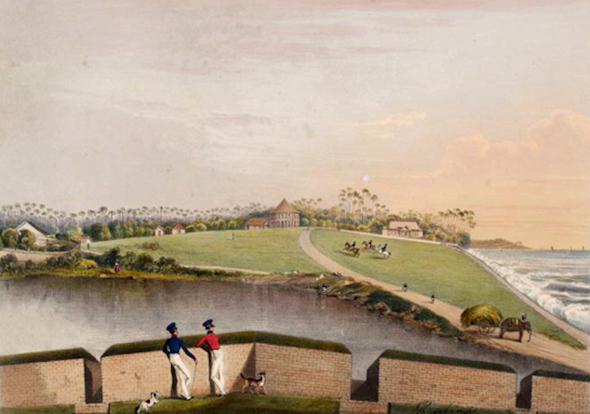 Scenery and Reminiscences of Ceylon - The Galle-Face Esplanade, from Middleburg Counterguard (1845)