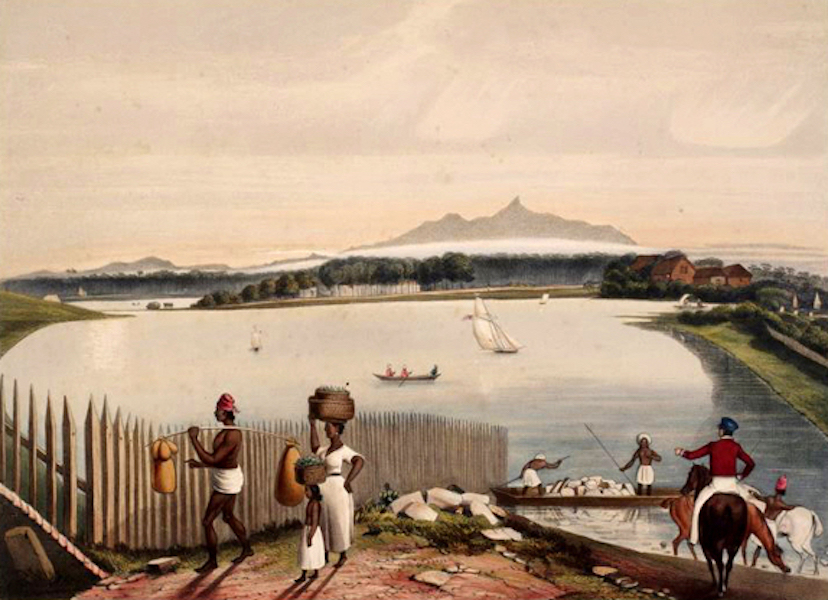 Scenery and Reminiscences of Ceylon - Adam's Peak & the Lake of Colombo, from the Galle-Barrier (1845)