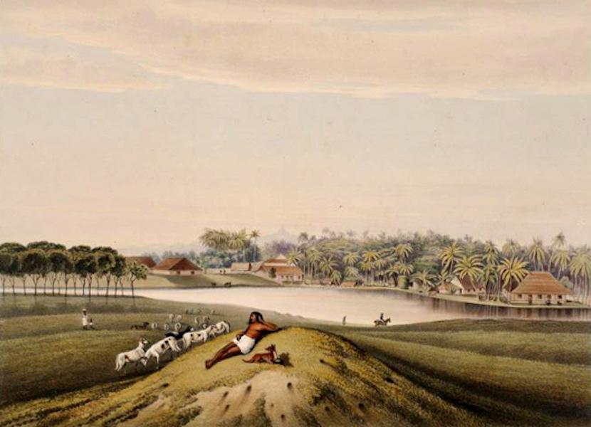 Scenery and Reminiscences of Ceylon - Adam's Peak & Slave Island, from the Galle-Face Esplanade (1845)