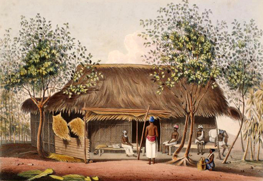 Scenery and Reminiscences of Ceylon - The Ferry-House, at Pantura (1845)