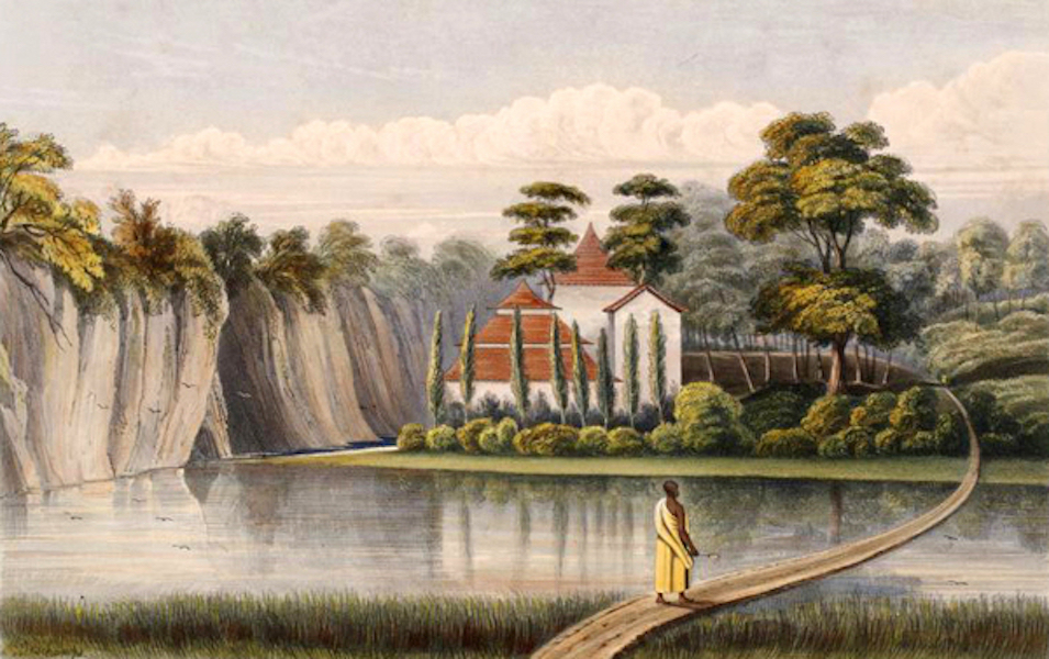 Scenery and Reminiscences of Ceylon - Buddhist Temples at Bolgodde (1845)