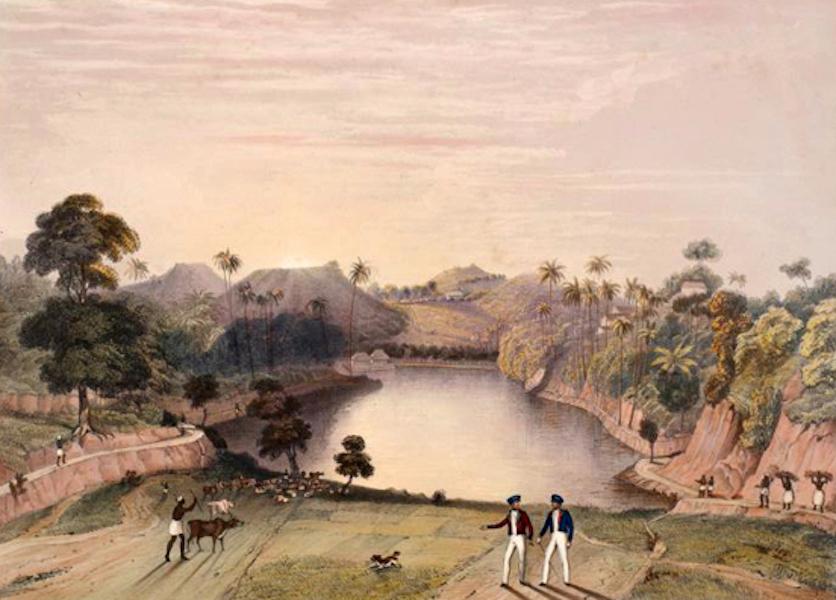 Scenery and Reminiscences of Ceylon - The Lake of Kandy (1845)
