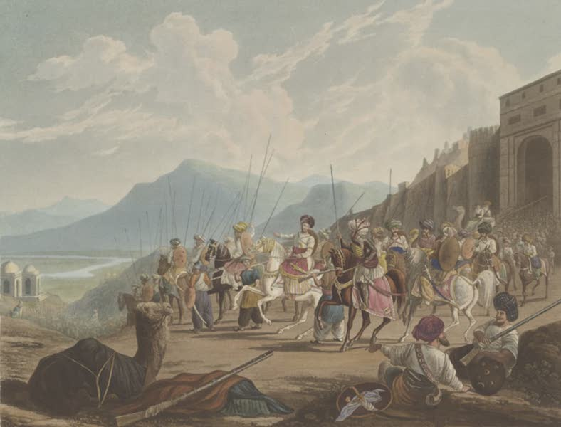 Scenery, Costumes and Architecture, Chiefly on the Western Side of India - The Rajah of Cutch with his Vassals (1826)