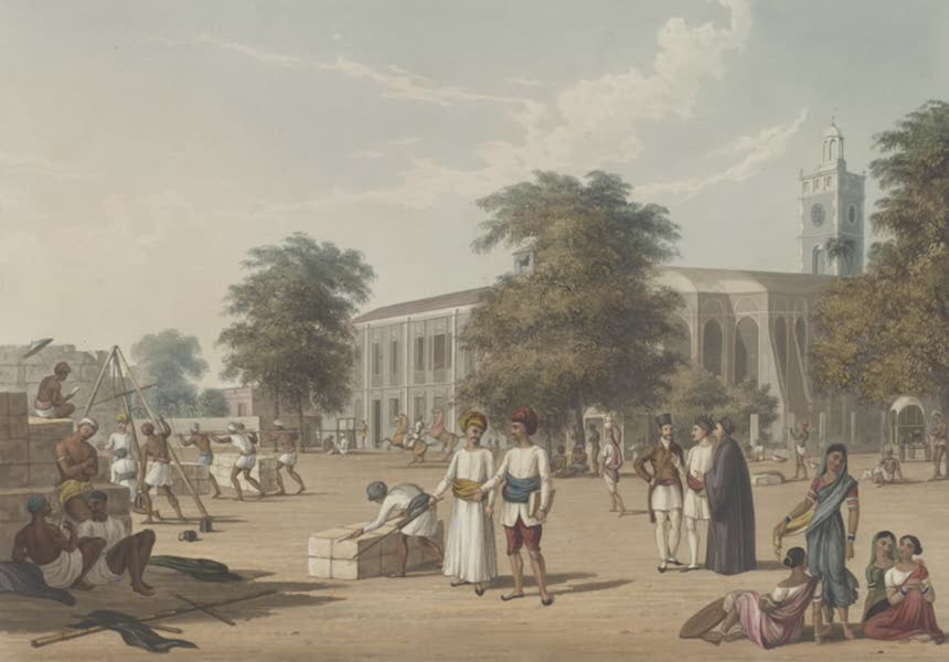 Scenery, Costumes and Architecture, Chiefly on the Western Side of India - Scene in Bombay [II] (1826)