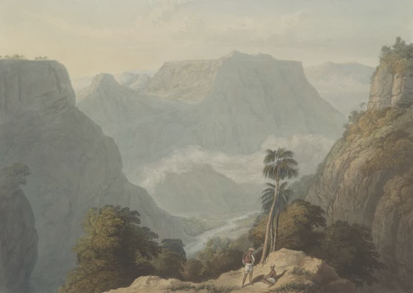 Scenery, Costumes and Architecture, Chiefly on the Western Side of India - View from the top of the Bore Ghaut, drawn in 1803 (1826)