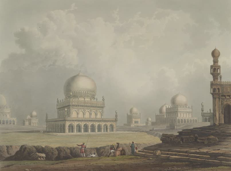 Scenery, Costumes and Architecture, Chiefly on the Western Side of India - Tombs of the Kings of Golconda, drawn 1813 (1826)