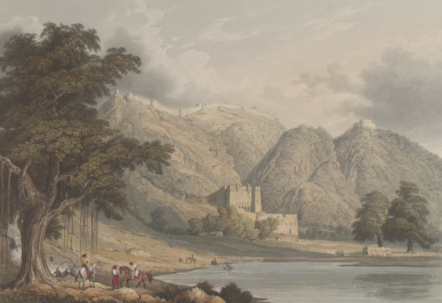 Scenery, Costumes and Architecture, Chiefly on the Western Side of India - Fortress of Bowrie in Rajpootana (1826)