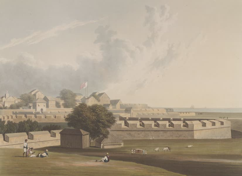 Scenery, Costumes and Architecture, Chiefly on the Western Side of India - North-west view of the fort of Bombay (1826)