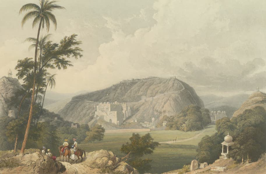 Scenery, Costumes and Architecture, Chiefly on the Western Side of India - The town and pass of Boondi in Rajpootana (1826)