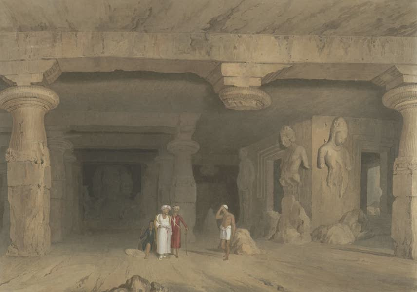 Scenery, Costumes and Architecture, Chiefly on the Western Side of India - Interior of the great Cave Temple of Elephanta, near Bombay, drawn in 1803 (1826)
