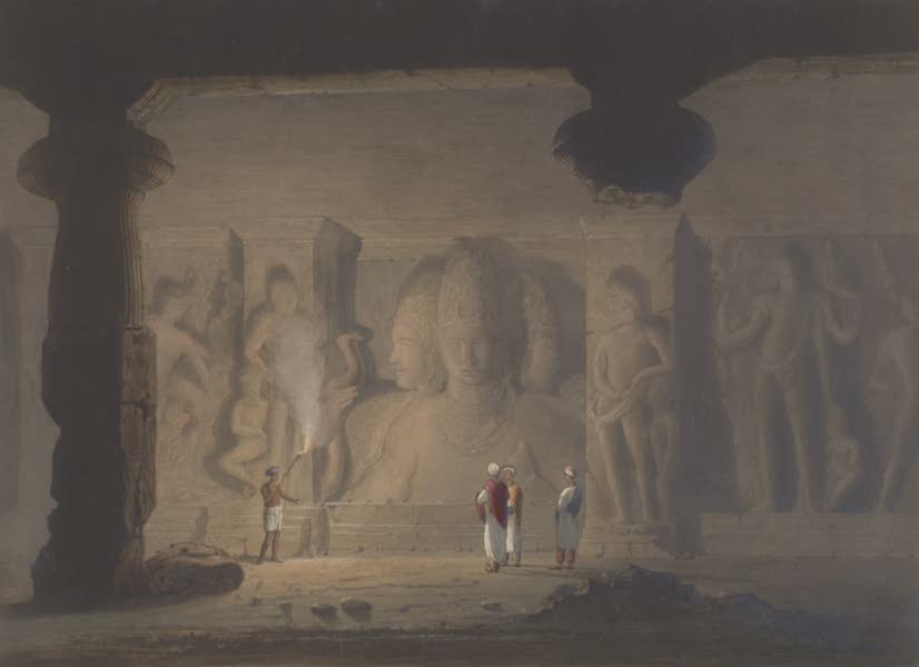 Scenery, Costumes and Architecture, Chiefly on the Western Side of India - The Great Triad in the Cave Temple of Elephanta, near Bombay, drawn in 1803 (1826)
