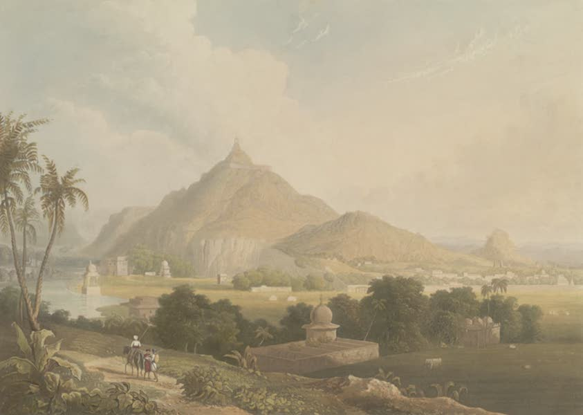 Scenery, Costumes and Architecture, Chiefly on the Western Side of India - View of the City and Fortress of Tonk in Rajpootana (1826)
