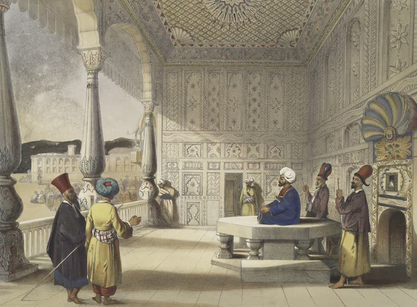 Scenery, Inhabitants, & Costumes, of Afghaunistan - Interior of the palace of Shauh Shujah Ool Moolk, Late King of Cabul (1848)