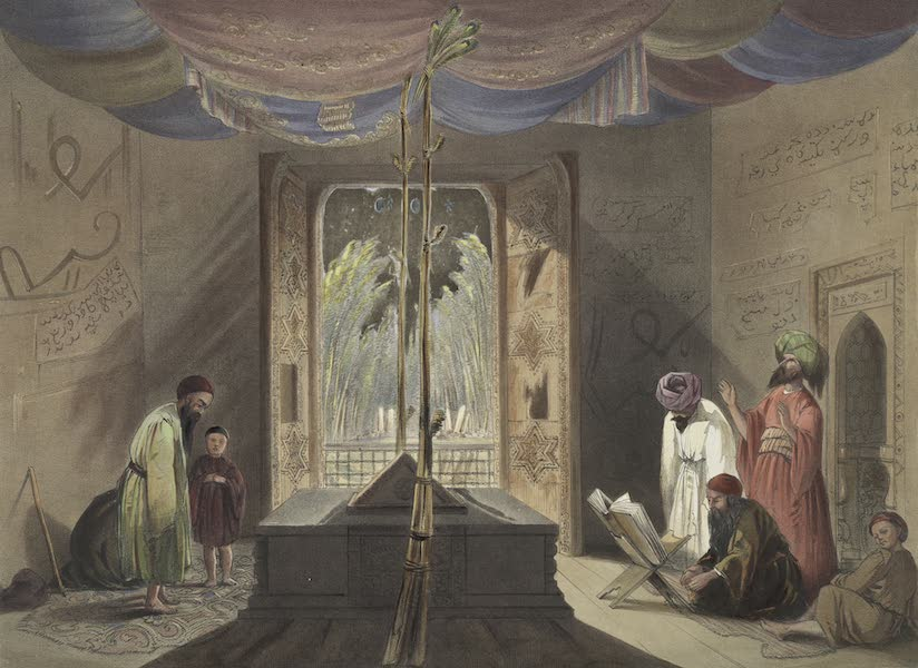 Scenery, Inhabitants, & Costumes, of Afghaunistan - Mosque and tomb of the emperor sooltaun Mahmood, of Ghuznee (1848)
