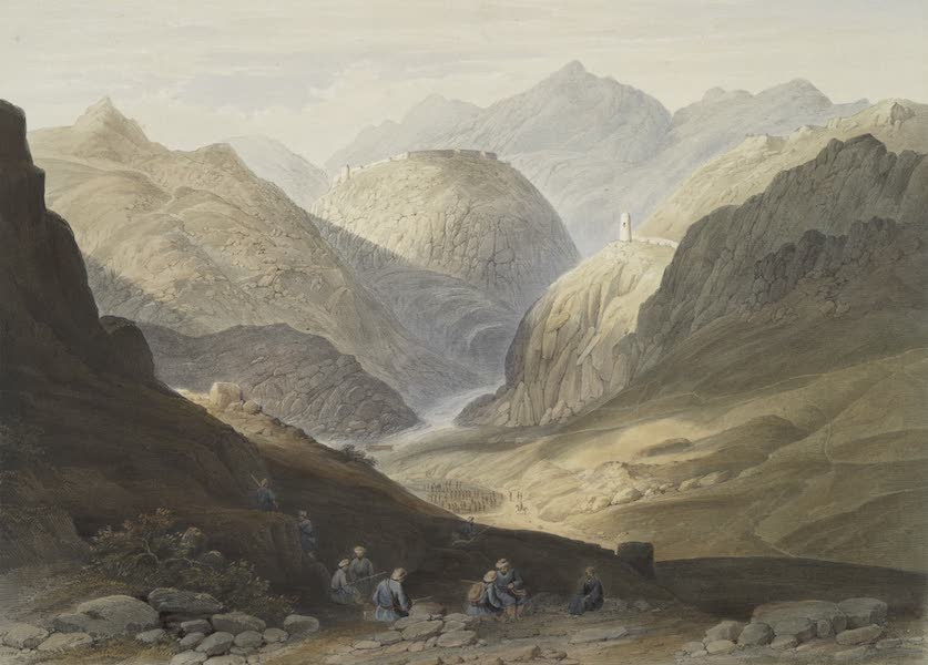 Scenery, Inhabitants, & Costumes, of Afghaunistan - Fortress of Alimusjid, and the Khybur Pass (1848)