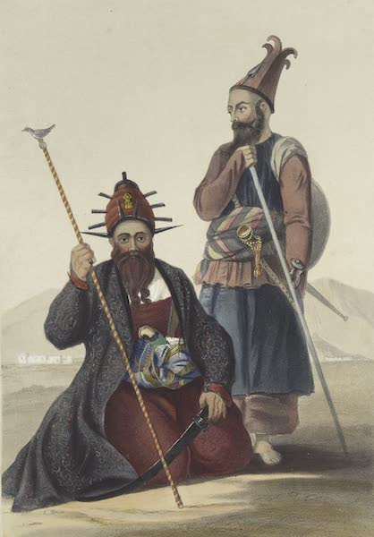 Scenery, Inhabitants, & Costumes, of Afghaunistan - Chief executioner and assistant, of his majesty the late Shah (1848)