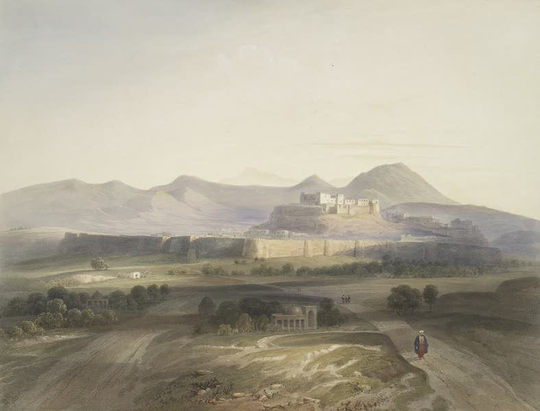 Scenery, Inhabitants, & Costumes, of Afghaunistan - Town and citadel of Ghuznee (1848)