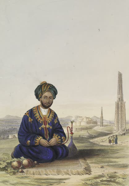 Scenery, Inhabitants, & Costumes, of Afghaunistan - Hyder Khan, the governor of Ghuznee (1848)