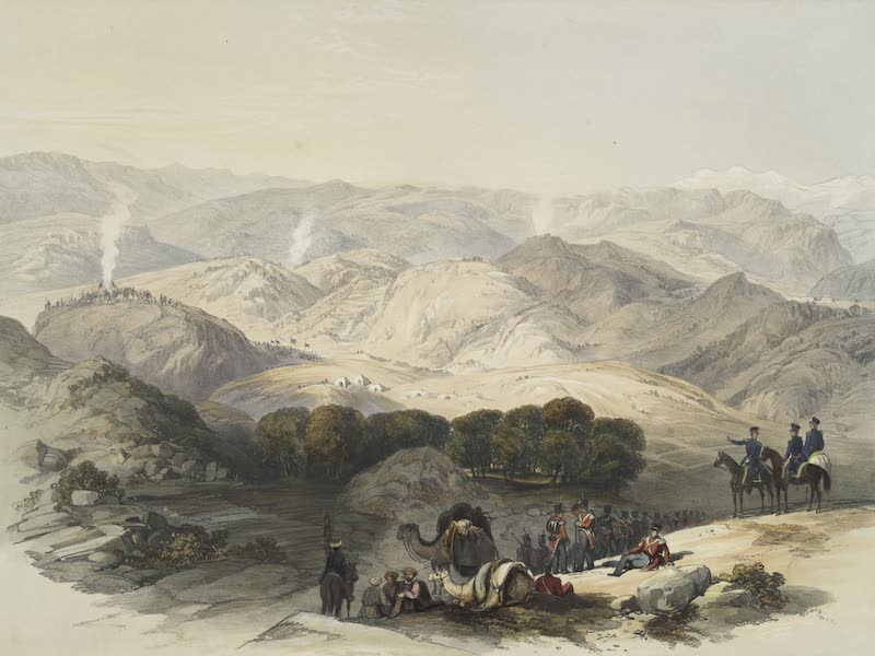 Scenery, Inhabitants, & Costumes, of Afghaunistan - Jugdelluk, the last stand made by General Elphinstone's army in the calamitous retreat (1848)