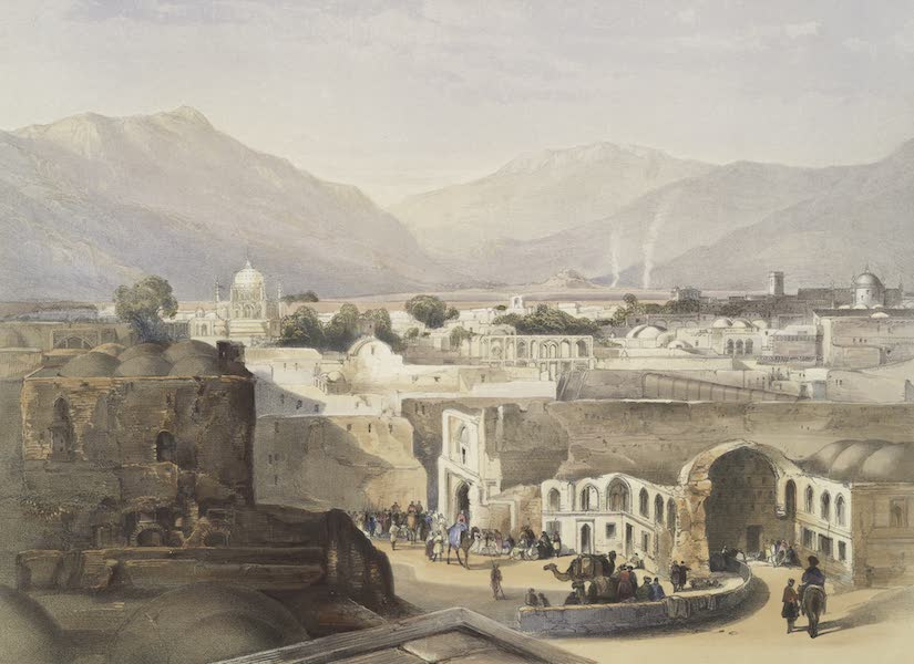 Scenery, Inhabitants, & Costumes, of Afghaunistan - Interior of the city of Kandahar, from the house of the sirdar