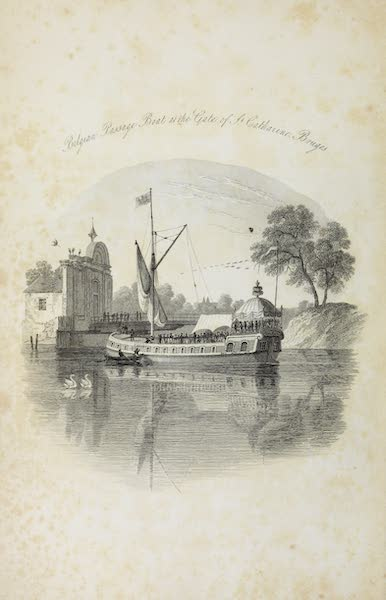 Scenery of the Rhine, Belgium and Holland - Vignette, Belgian Passage Boat, at the Gate of St. Catherine, Bruges (1826)