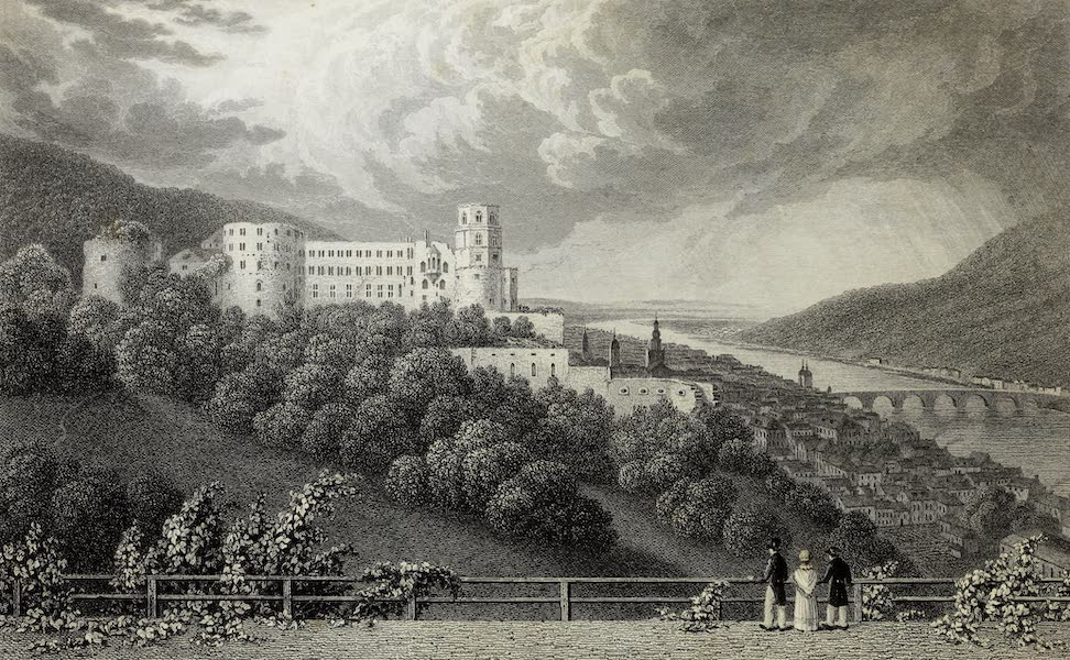 Scenery of the Rhine, Belgium and Holland - Palace at Heidelberg (1826)